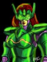 IPad Drawing Green Armor by imagesbyalex