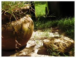 Rustic Flower Pot 3 by Polly-Stock