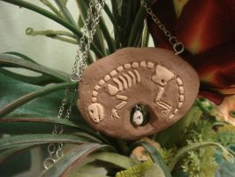 Dino Bone Necklace by KittyAzura