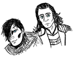 Khan and Loki by InvisibleCorpseGirl