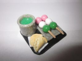 Polymer Clay dangos and dumplings by Darklunax110