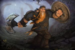 Dwarf Fighter by Simon Buckroyd by Binoched
