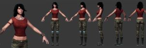 Rubi Malone Low Poly Set 1 by HazardousArts