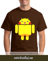 Android Logo Tee: Pikachu Andy by DesignBomb