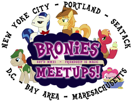 Bronies Meetups logo v2 by purpletinker