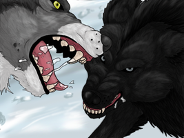 Wolfs Fight by Gothie666