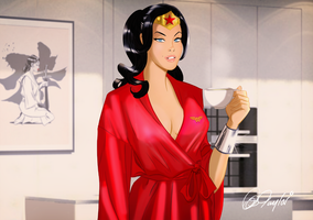 Good morning Wonder Woman by DESPOP