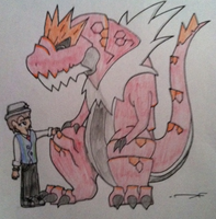 Dana with Tyrantrum (Drawing) by Dianamond