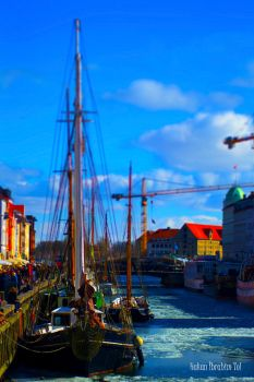 Nyhavn with Tilt-Shift by WorldsInWorld