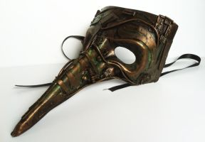 steampunk  venetian mask by richardsymonsart