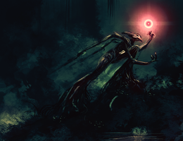 Spitpaint :: Swamp Necromancer by MissWiggle