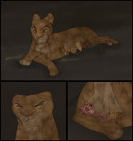 Scar's Reign- Dark Times Page 1 by Elennaaa