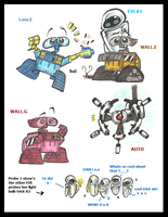 WALL.E doodles 2 by PurpleRAGE9205
