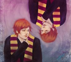weasley twins by GuppyBlue