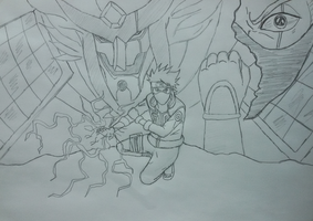 Naruto - Kakashi Hatake and Susanoo by Katong999