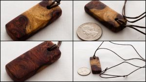 Amboyna burl pendant by theon07