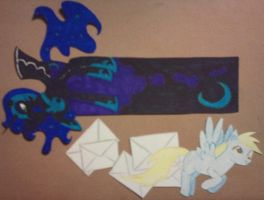 Nightmare Moon and Derpy Hooves Bookmarks by Xylan-Moonhawk