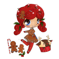 Gingerbreadgirl Chibi Commission by YamPuff