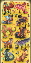10 FREE creature adoptables CLOSED by Roxalew