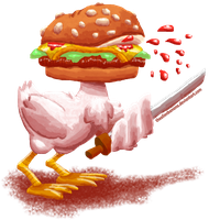Daily 69- Barry the Beautiful Burger Bird by TheAlienBanana