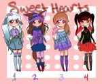 Sweet Heart Adopts [CLOSED] by Strawberry-Kytlynn