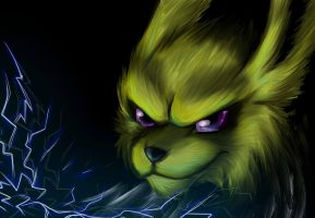 Jolteon Wallpaper by Kloofcat