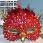 Commissioned Phoenix Mask by EMasqueradeGallery