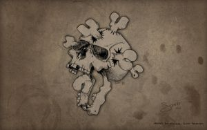 Skull and Cross Bones by hassified