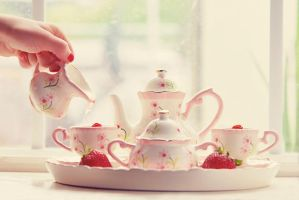 Strawberry Tea Time by Tracys-Place
