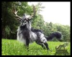 --SOLD--Hand Made Poseable Fantasy Thunder Stag! by Wood-Splitter-Lee