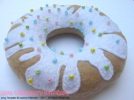 Wt Pastel Sprinkle Donut Plush by The-Killer-Anna