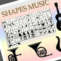 Music Custom Shapes Photoshop by cowscoud