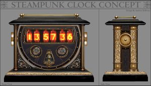 Steampunk Clock Concept by Anderin