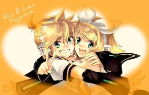 Rin and Len Kagamine by TheKagamineFanatic