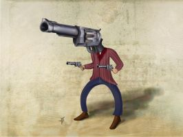 Hombre pistolo by igs-ink