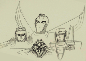 Bunch of Starscream by Aeroire