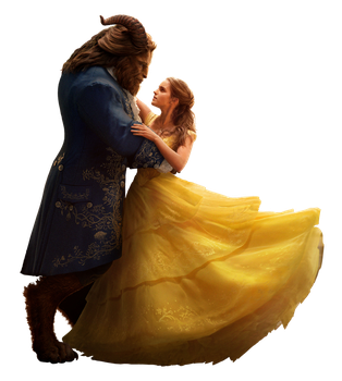 Beauty and the Beast 2017 Belle and Beast png by mintmovi3