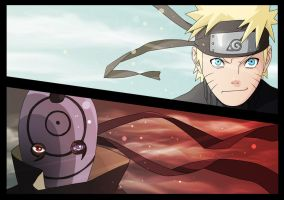 Naruto vs Tobi by BKpeter