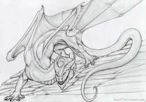 scary dragon by Beast3