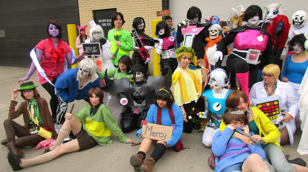 Undertale cosplayers (1 of 2) - Anime Central 2016 by semi-surreal