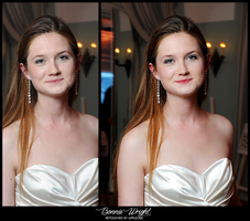 Retouch Bonnie Wright by theskyinside