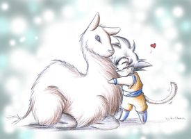 Goku loves his Llama by xH-Chanx