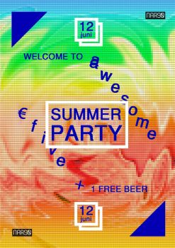 NAR90summerparty posterBE FloAlmeida by WeegeeWorld