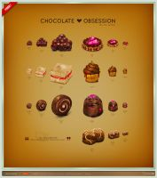 Chocolate Obsession Icon Set by FreeIconsFinder