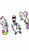 10 POINT RAINBOW KITTY ADOPTS :OPEN: by El3ctro-Mess