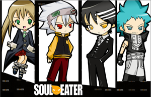 Soul Eater Chibis by tachiik