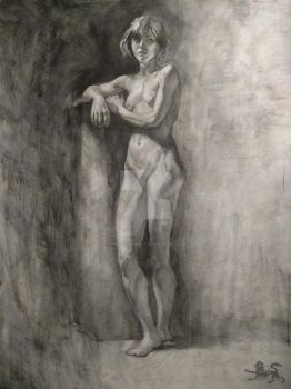 graphite life drawing by lupodirosso