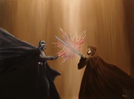 The Last Battle (Star Wars) Darth Vader Obi Wan by Withoutum