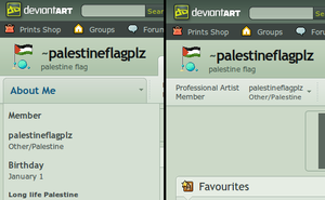 I support Palestine in DA country list by saxeh