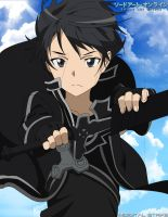 Kirito the Black Swordsman by digital-strike